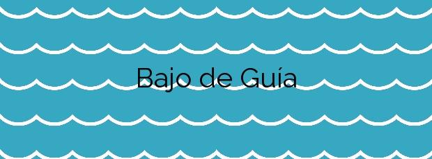 Información de la Playa Bajo de Guía en Sanlúcar de Barrameda