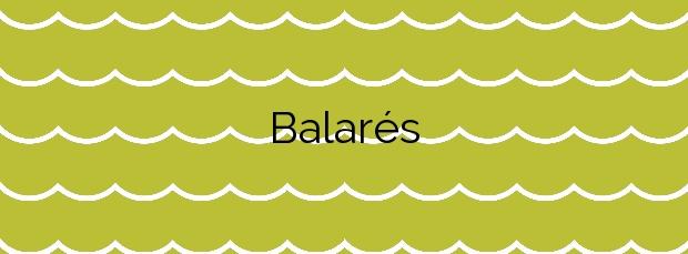 Información de la Playa Balarés en Ponteceso