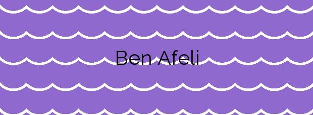 Información de la Playa Ben Afeli en Almassora