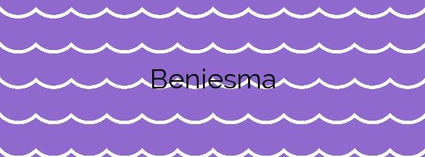 Información de la Playa Beniesma en Moncofa