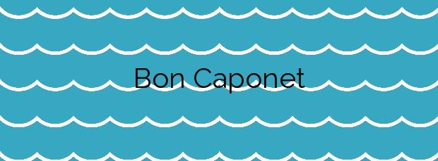 Información de la Playa Bon Caponet en L'Ametlla de Mar