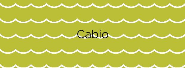 Información de la Playa Cabío en A Pobra do Caramiñal