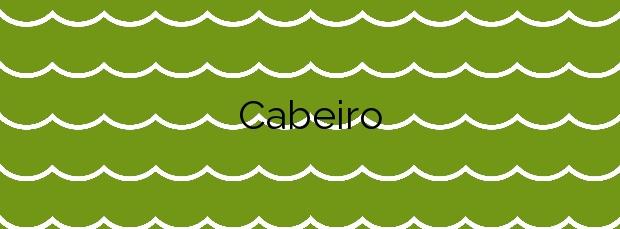 Información de la Playa Cabeiro en Porto do Son