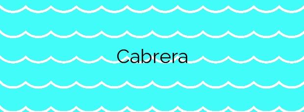 Información de la Playa Cabrera en Cabrera de Mar