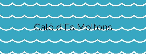 Información de la Playa Caló d'Es Moltons en Sant Joan de Labritja