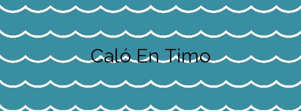 Información de la Playa Caló En Timo en Llucmajor