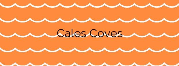 Información de la Playa Cales Coves en Alaior