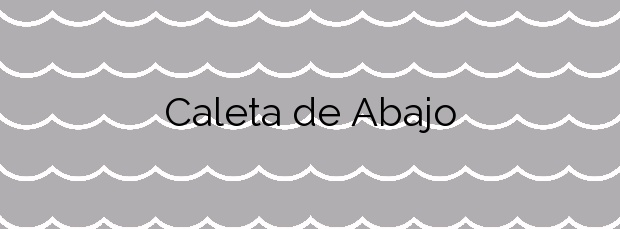 Información de la Playa Caleta de Abajo en Gáldar