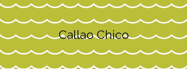 Información de la Playa Callao Chico en Guía de Isora