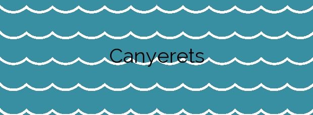 Información de la Playa Canyerets en Sant Feliu de Guíxols
