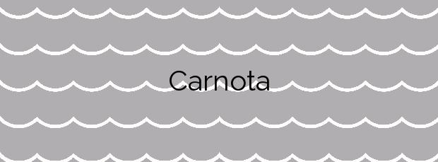 Información de la Playa Carnota en Carnota