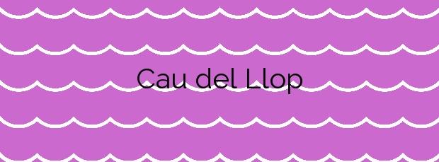 Información de la Playa Cau del Llop en Llançà