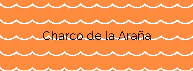 Información de la Playa Charco de la Araña en Los Silos