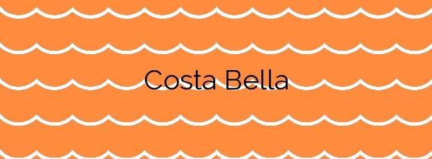 Información de la Playa Costa Bella en Marbella