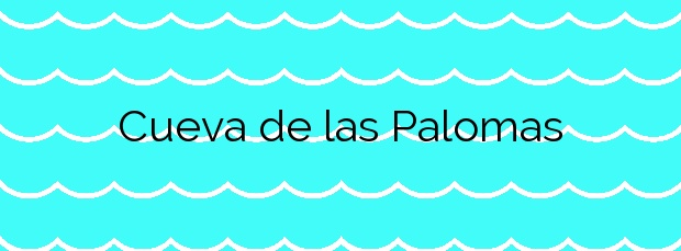 Información de la Playa Cueva de las Palomas en Águilas