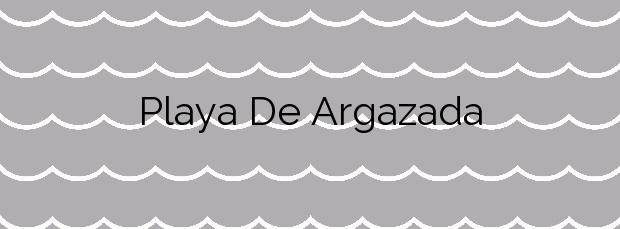 Información de la Playa De Argazada en Vigo