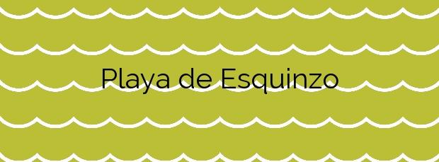 Información de la Playa de Esquinzo en La Oliva