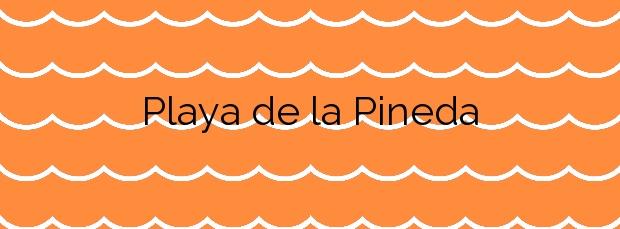 Información de la Playa de la Pineda en Viladecans