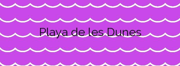 Información de la Playa de les Dunes en Santa Susanna