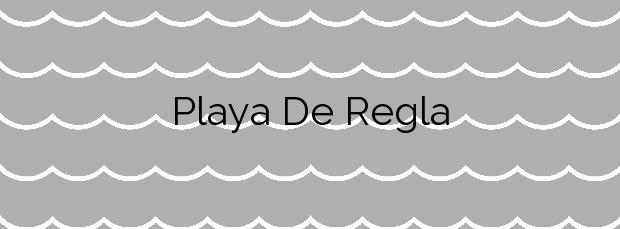 Información de la Playa De Regla en Chipiona