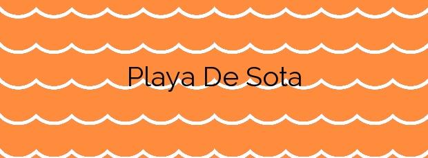Información de la Playa De Sota en El Port de la Selva