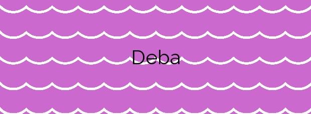 Información de la Playa Deba en Deba