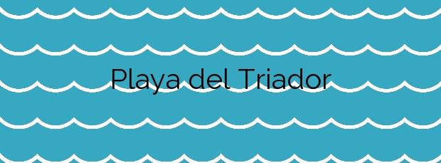 Información de la Playa del Triador en Vinaròs