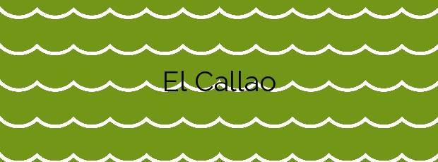 Información de la Playa El Callao en Arona