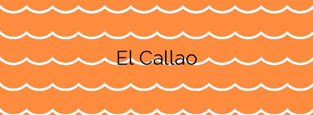 Información de la Playa El Callao en Mataró