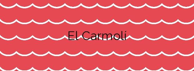Información de la Playa El Carmolí en Cartagena