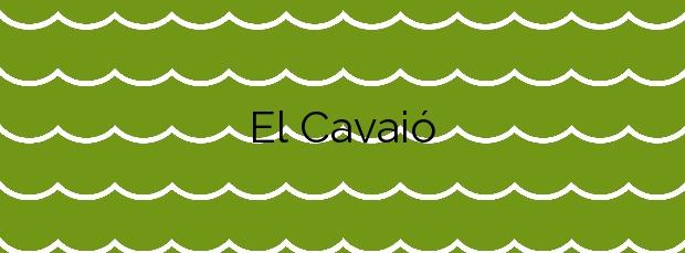 Información de la Playa El Cavaió en Arenys de Mar