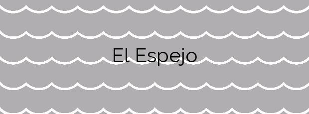 Información de la Playa El Espejo en Los Alcázares