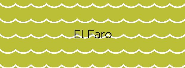 Información de la Playa El Faro en Marbella