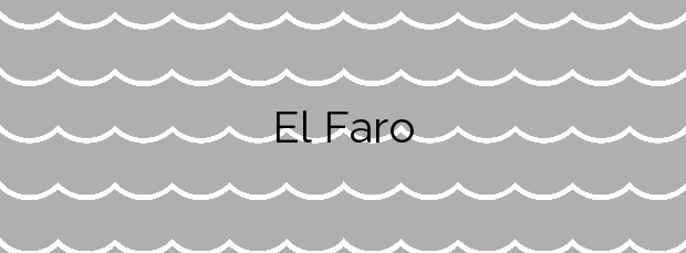 Información de la Playa El Faro en San Bartolomé de Tirajana