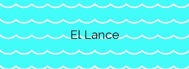 Información de la Playa El Lance en Rubite