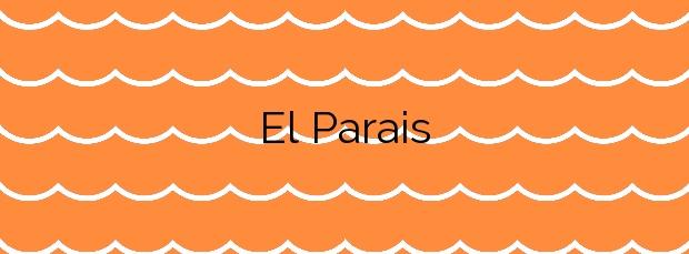 Información de la Playa El Parais en Villajoyosa