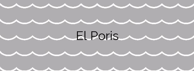 Información de la Playa El Poris en Villa de Mazo