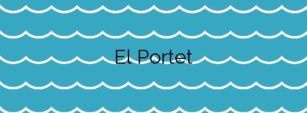 Información de la Playa El Portet en Teulada