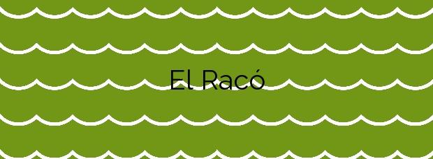 Información de la Playa El Racó en Begur