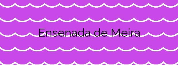 Información de la Playa Ensenada de Meira en Moaña
