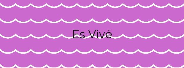 Información de la Playa Es Vivé en Eivissa