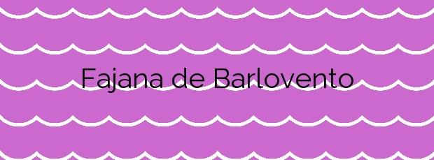 Información de la Playa Fajana de Barlovento en Barlovento