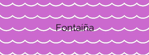 Información de la Playa Fontaíña en Pontevedra