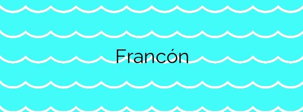 Información de la Playa Francón en Cangas