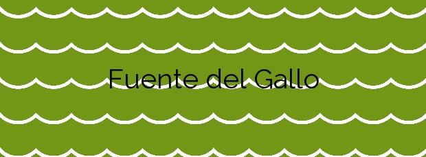 Información de la Playa Fuente del Gallo en Conil de la Frontera