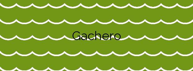 Información de la Playa Gachero en Mazarrón