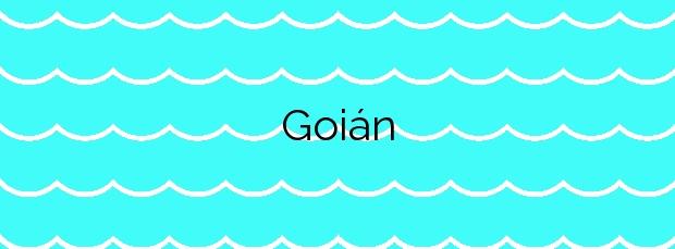 Información de la Playa Goián en Tomiño