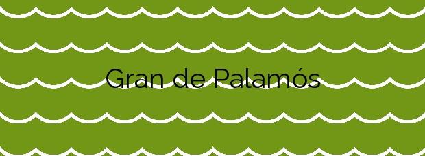 Información de la Playa Gran de Palamós en Palamós
