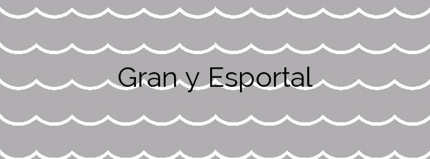Información de la Playa Gran y Esportal en Cadaqués