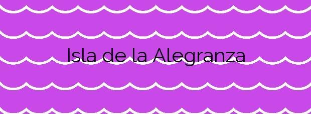 Información de la Playa Isla de la Alegranza en Teguise